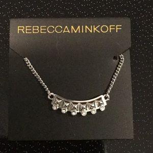 ReeccaMinkoff, Silvertone Necklace & Rhinestones